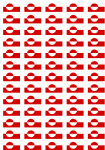Greenland Flag Stickers - 65 per sheet